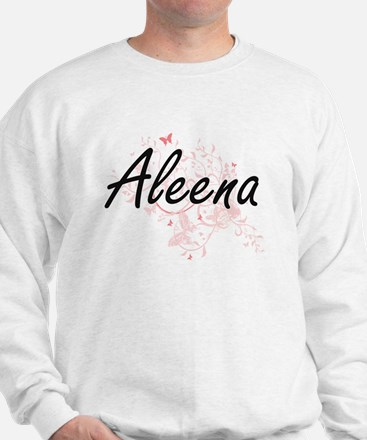 Aleena Artistic Name Design with Butter Sweater