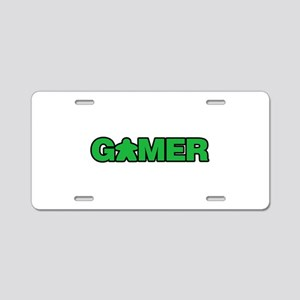 Green Gamer Aluminum License Plate