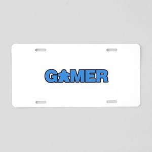 Blue Gamer Aluminum License Plate