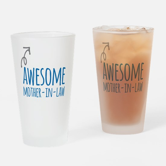 Awesome Mother In Law Drinking Glass