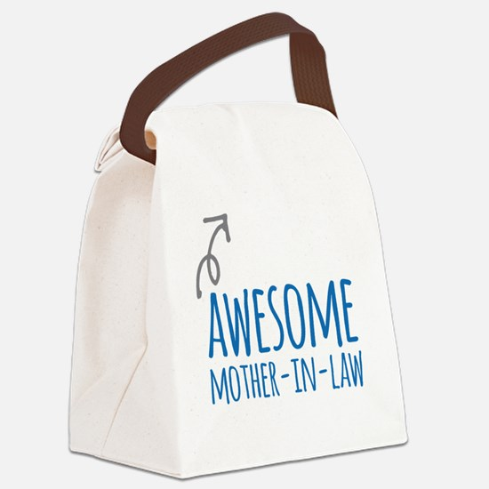 Awesome Mother In Law Canvas Lunch Bag