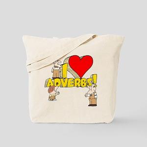 I Heart Adverbs Tote Bag