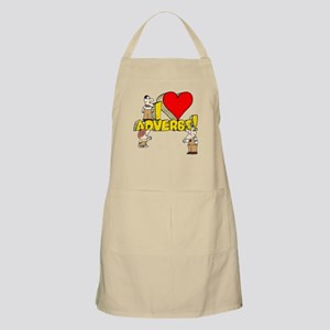 I Heart Adverbs Apron