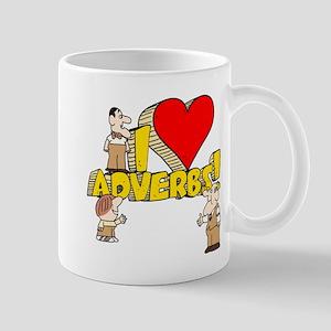 I Heart Adverbs Mug