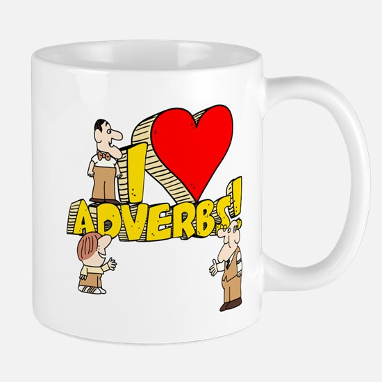 I Heart Adverbs Mug