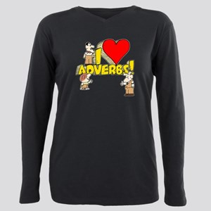I Heart Adverbs Plus Size Long Sleeve Tee