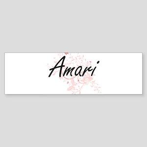 Amari Artistic Name Design with But Bumper Sticker
