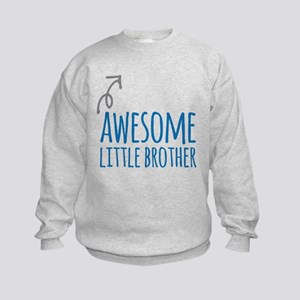 Awesome Little Brother Kids Sweatshirt