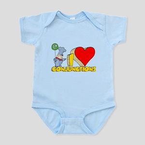 I Heart Conjunctions Infant Bodysuit