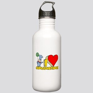 I Heart Conjunctions Stainless Water Bottle 1.0L