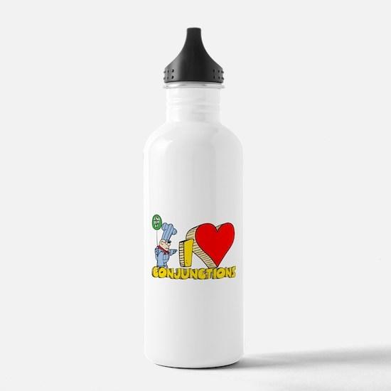 I Heart Conjunctions Sports Water Bottle