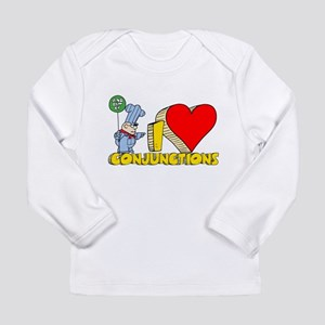 I Heart Conjunctions Long Sleeve Infant T-Shirt