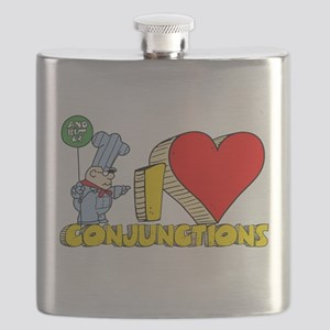 I Heart Conjunctions Flask