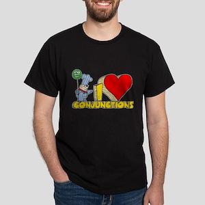 I Heart Conjunctions Dark T-Shirt