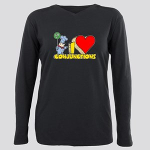 I Heart Conjunctions Plus Size Long Sleeve Tee