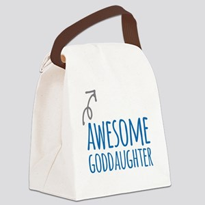 Awesome Goddaughter Canvas Lunch Bag