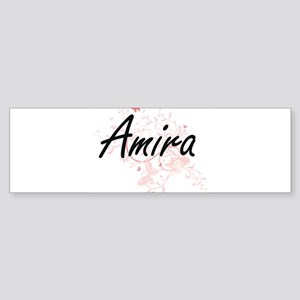 Amira Artistic Name Design with But Bumper Sticker
