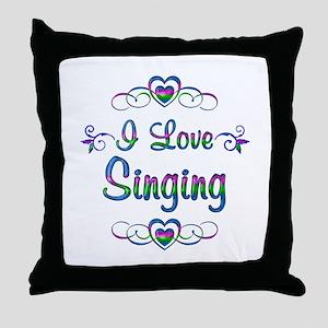 I Love Singing Throw Pillow