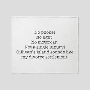 No Phone ... Throw Blanket