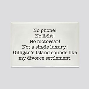 No Phone ... Rectangle Magnet