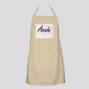 Anahi Artistic Name Design with Butterflies Apron