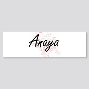 Anaya Artistic Name Design with But Bumper Sticker