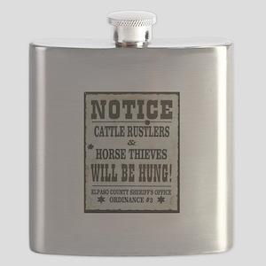 El Paso Sheriff Warning Flask