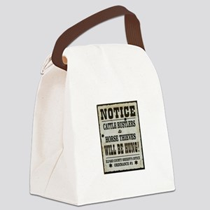 El Paso Sheriff Warning Canvas Lunch Bag
