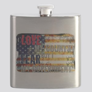 I love my country but I fear my government. Flask
