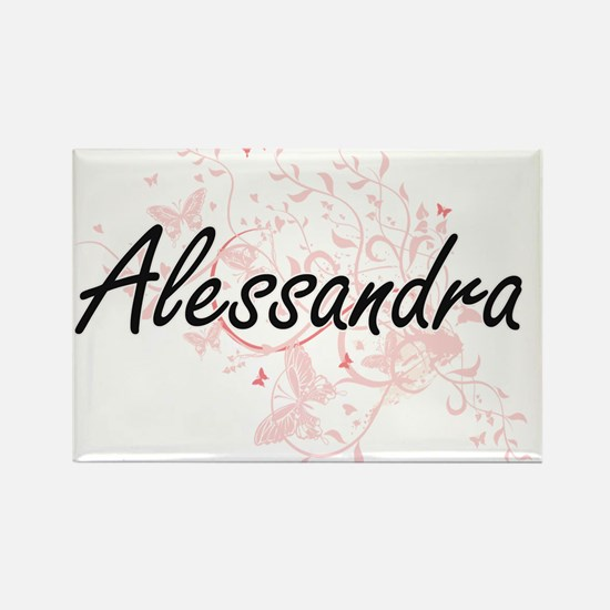 Alessandra Artistic Name Design with Butte Magnets