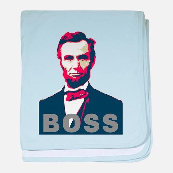 Lincoln Boss baby blanket