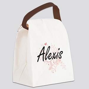 Alexis Artistic Name Design with Canvas Lunch Bag