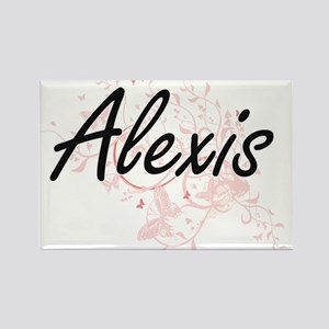 Alexis Artistic Name Design with Butterfli Magnets