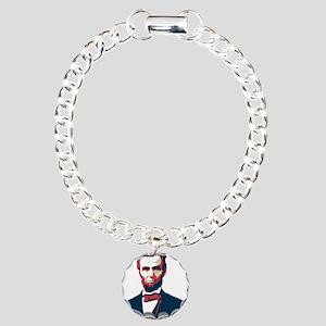 Lincoln Boss Charm Bracelet, One Charm
