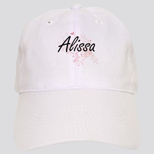Alissa Artistic Name Design with Butterflies Cap
