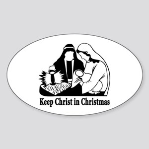 Keep Christ in Christmas Oval Sticker
