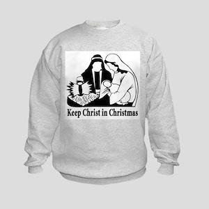 Keep Christ in Christmas Kids Sweatshirt