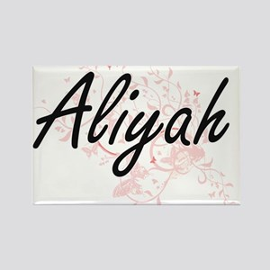 Aliyah Artistic Name Design with Butterfli Magnets