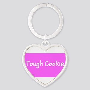 Tough Cookie Breast Cancer Pink Designer Keychains
