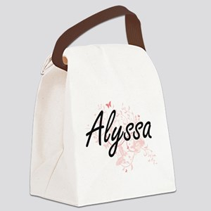 Alyssa Artistic Name Design with Canvas Lunch Bag