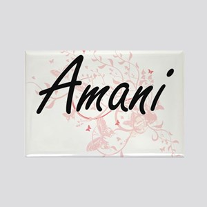 Amani Artistic Name Design with Butterflie Magnets