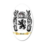 Moule 20x12 Oval Wall Decal