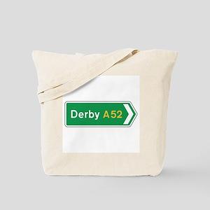 Derby Roadmarker, UK Tote Bag