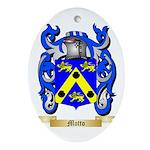 Motto Oval Ornament