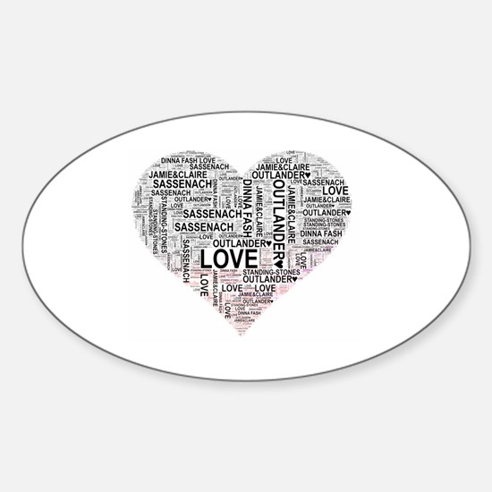 Funny Jamie and claire Sticker (Oval)