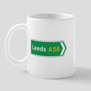 Leeds Roadmarker, UK Mug