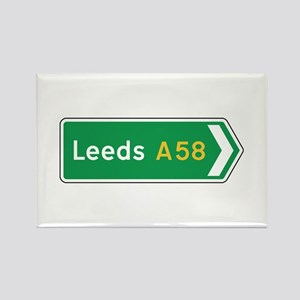 Leeds Roadmarker, UK Rectangle Magnet