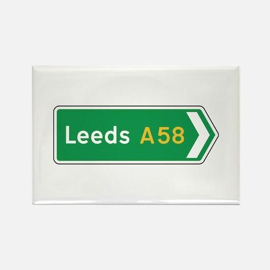 Leeds Roadmarker, UK Rectangle Magnet