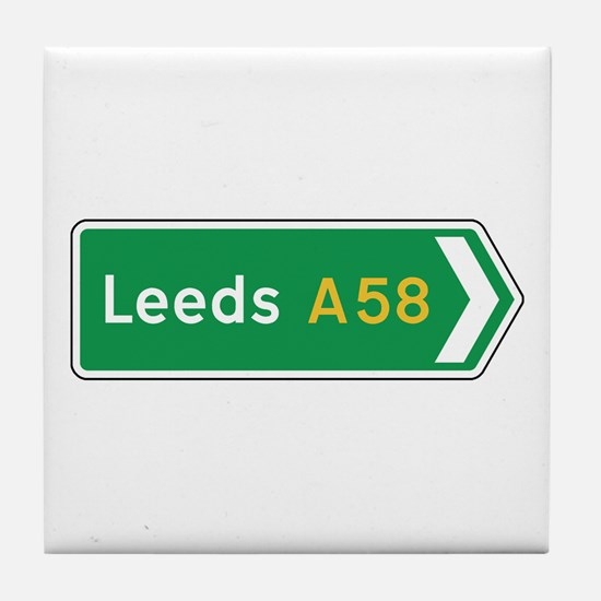 Leeds Roadmarker, UK Tile Coaster