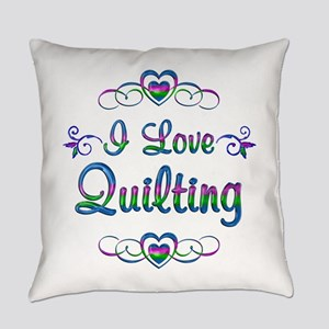 I Love Quilting Everyday Pillow